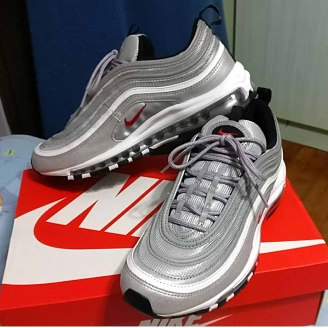 newest 2d789 2ecc5 BNIB] Nike Air Max 97 OG QS Silver Bullet, Men's Fashion ...