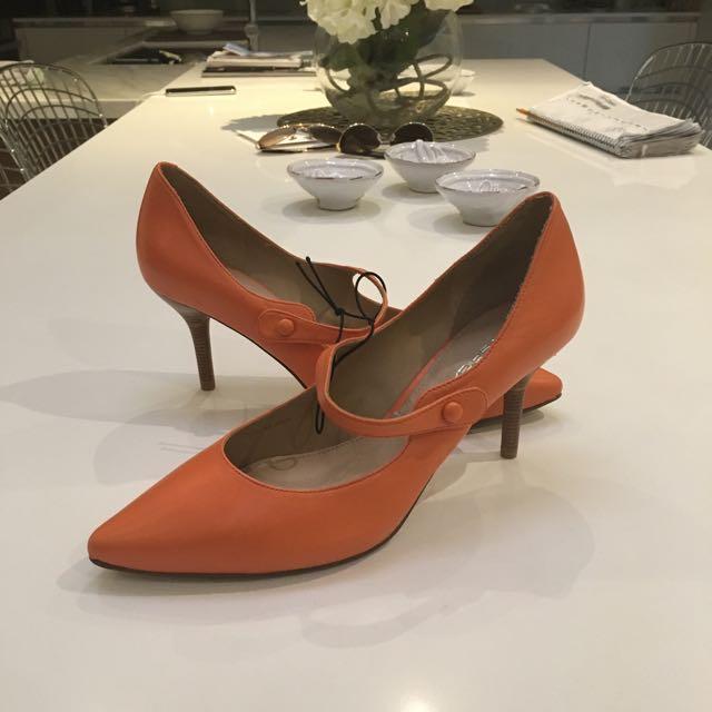 Via Spiga Orange Heels