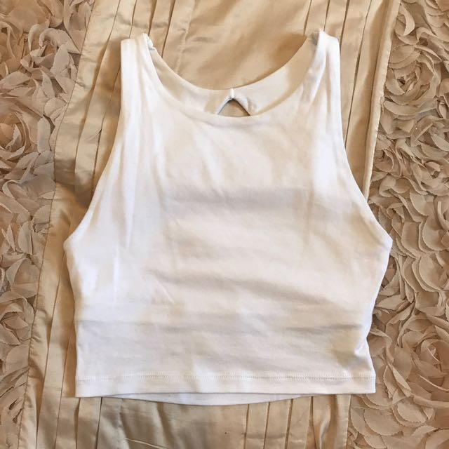 White Crop Kookai Top