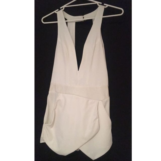 White Skort Jumpsuit