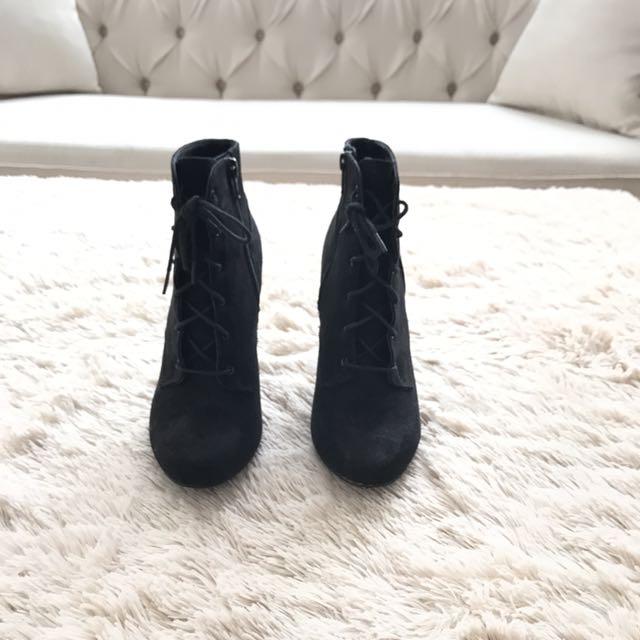 Women Black High Platform Booties