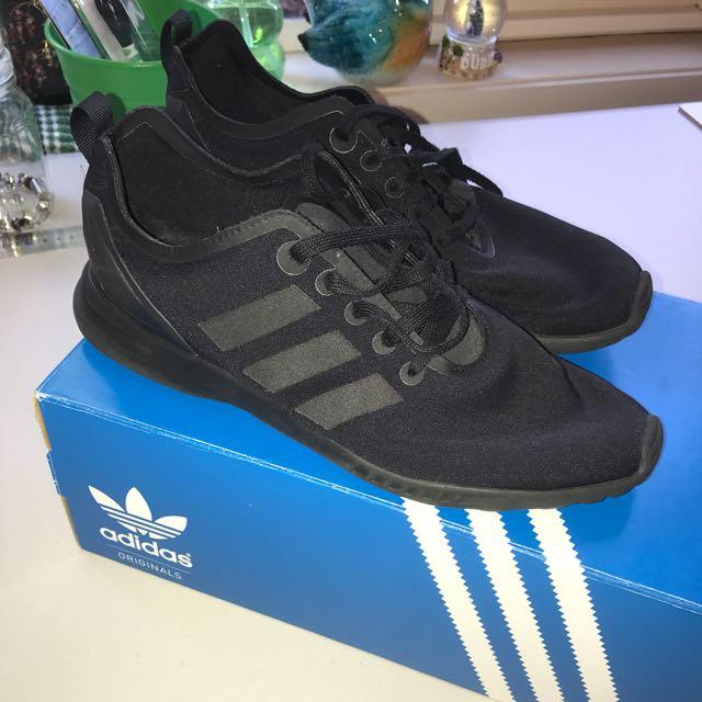 Women's Adidas Zx Flux Smooth 8 Black
