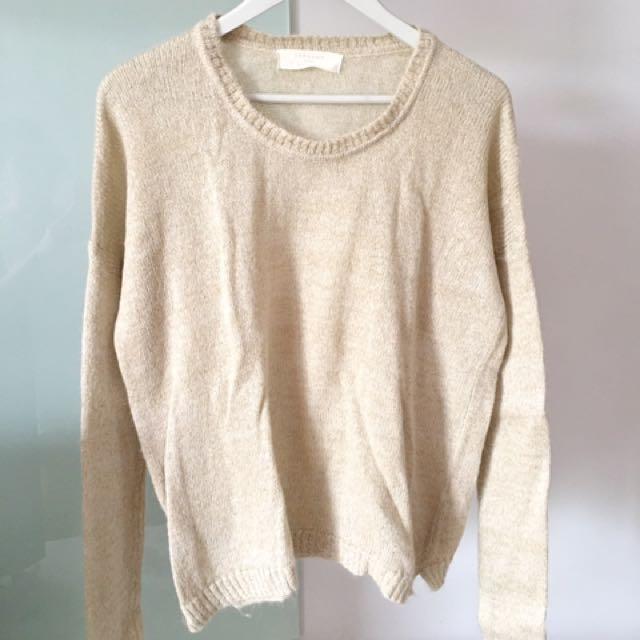 Zara Knit Sweater Medium