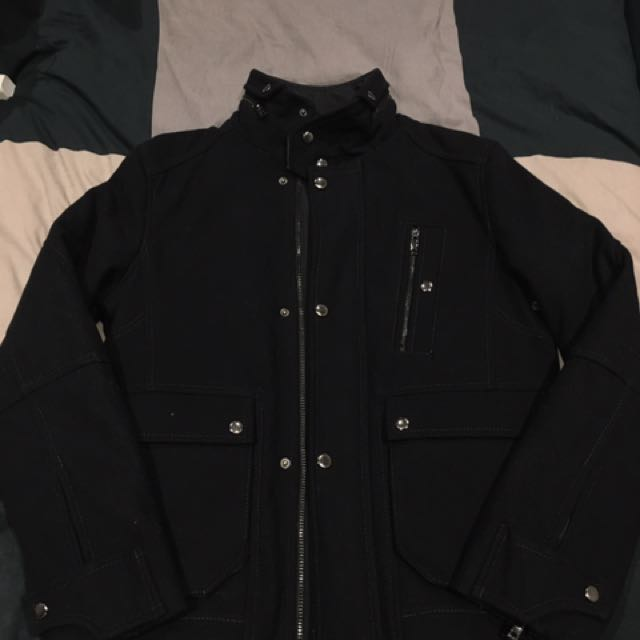Zara Men's Wool Jacket Coat