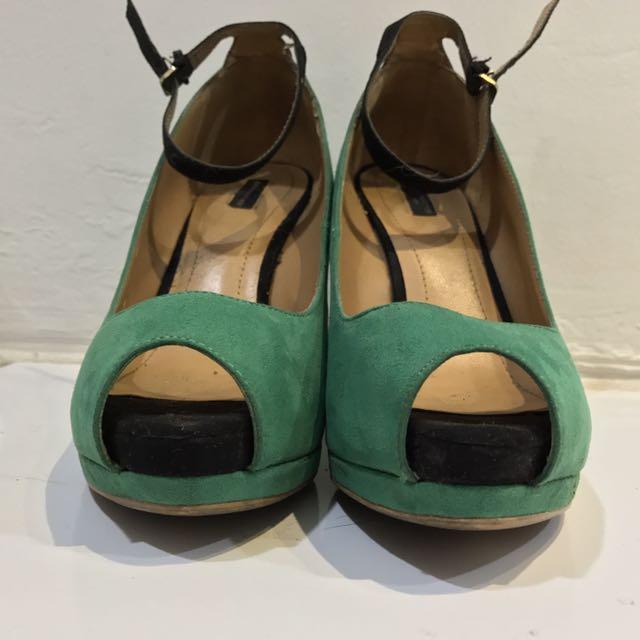 Zara Original Wedge Ankle Strap