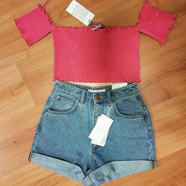 Zara Top And Shorts