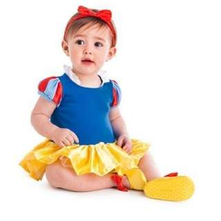 Disney Store Snow White Baby Costume Outfit & Headband 9-12 M