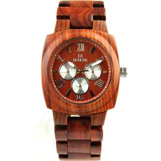 Redear Berlin Series Red Sandalwood Wood Wooden Watch