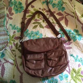 Brown Multi Pocket Purse