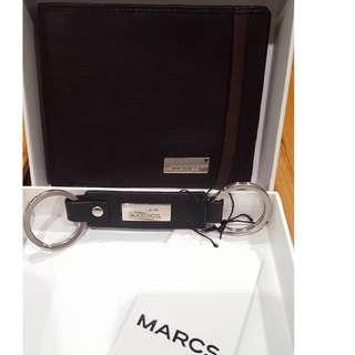 Brand New MARCS Mens wallet and key ring - Gift Set