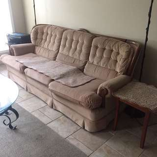 Sofa With Two End Tables