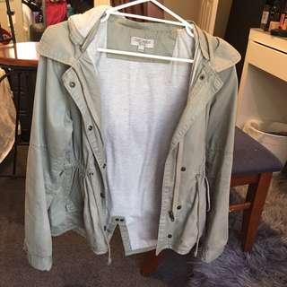 Just Jeans Khaki Parka Jacket Size 12