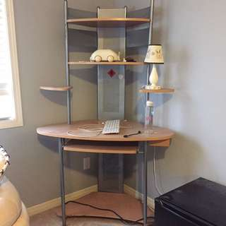 Corner Computer Desk With Shelf