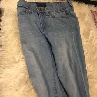 "J.crew Jeans -skinny Fit ""toothpick"" Size 24 Waist (00-0)"
