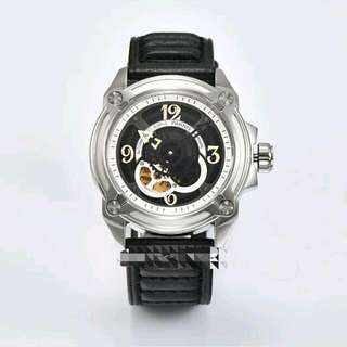 44mm Parnis Automatic Sapphire Crystal Yellow Luminous Number Men's Watch