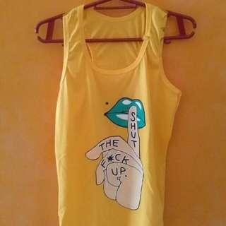 Yellow Teefit Sleeveless Shirt
