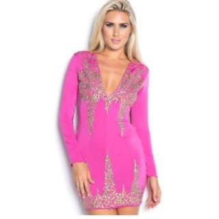 Hot Pink Holt Miami Dress. Brand NEW