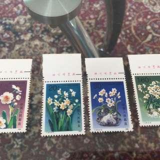 大陸郵票,新,1990-1991年出版無蓋印章