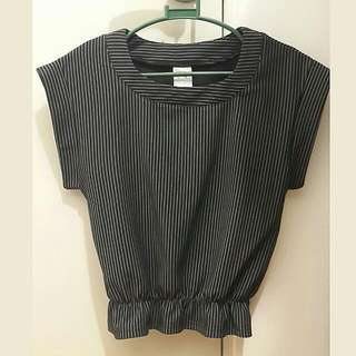 Korean Style Semi Crop Top Blouse