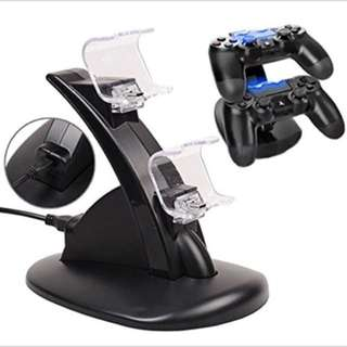 PS 4 Accessories PS4 Dual USB Charger Docking Station Stand for Playstation 4 Game Controller Stand Holder Black Charger