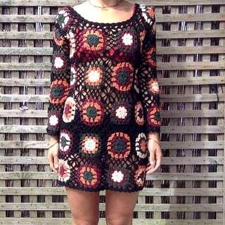 70's Crochet Dress