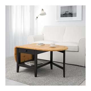 IKEA wood coffee table
