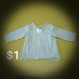Newborn Girls Long Sleeve Top 0000