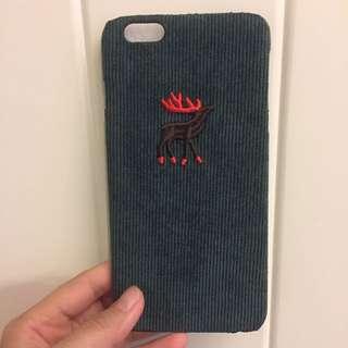 Iphone6plus麋鹿絨布手機殼