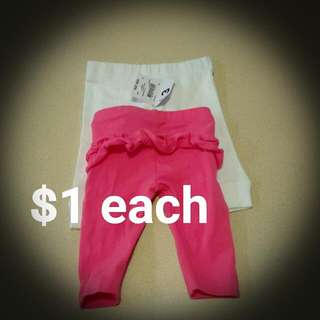 Newborn Girls Leggings 0000