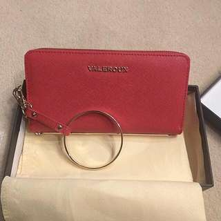Genuine Leather Red Purse/wallet /wristlet