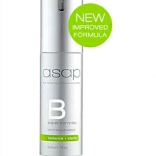ASAP Super B Complex Serum Vitamin B3 Collagen Boost 30ml Authorise Stockist  RRP $95