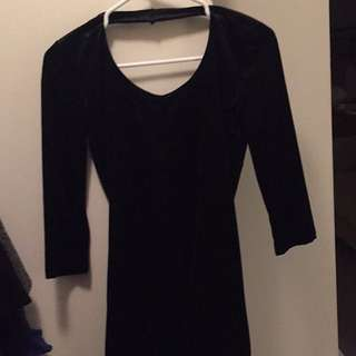 Black Velvet Bodycon Dress