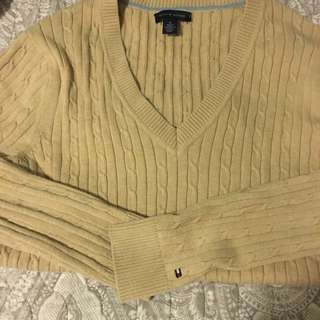 Tommy Hilfiger 'M' Beige Cable Knit Jumper