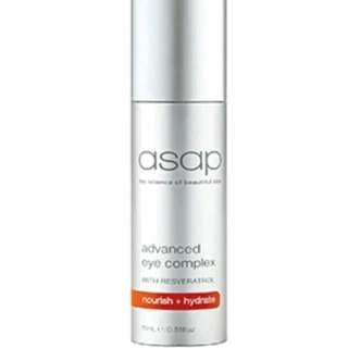 ASAP Advanced Eye Complex 15ml New Treatment Repair Advanced Revitalised Authorise Stockist RRP $65
