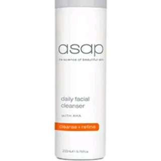 ASAP Daily Facial Cleanser Soap Free New Cleansing Smoothing Skin 200ml RRP $49 Registered Stockist