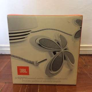 2nd Hand JBL Spyro Satellite Speakers With Subwoofer (White)