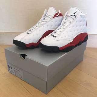 AJ 13 White/black - Team Red