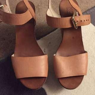 Michael Kors Wedges Heels In Brown Size 8