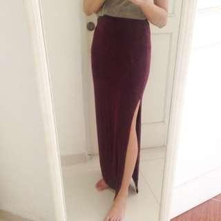 BERSHKA Maroon Skirt