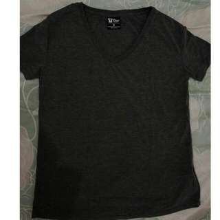 Cotton On V-neck Tshirt (Dark Grey)