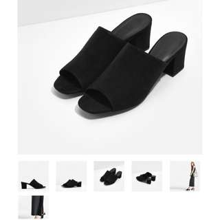 Charles n Keith Mules Black