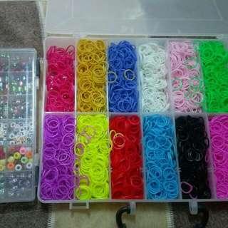 Rainbow Rubber Band兒童橡皮筋編織手環