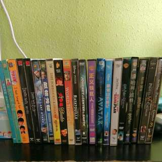 Assorted VCDs and DVDs