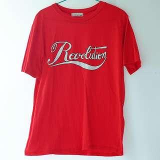 包郵。冇牌子。紅色t恤