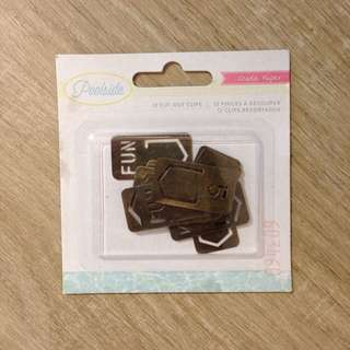Crate Paper Cut Out Clips For Scrapbook