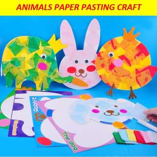 Animal paper pasting art and craft / goodie bag / party pack