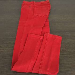Red Long Jeans