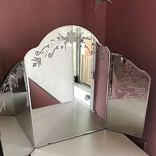 Mirror, Three Panel Console  Mirror