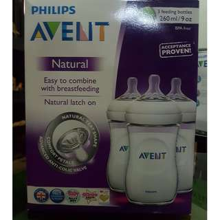 Philips Avent 9oz natural feeding bottles fresh from UK and cheaper than mall price!