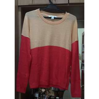 Light Knitted Sweater Dual Colour